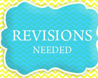 Revisions - Need another round of edits?