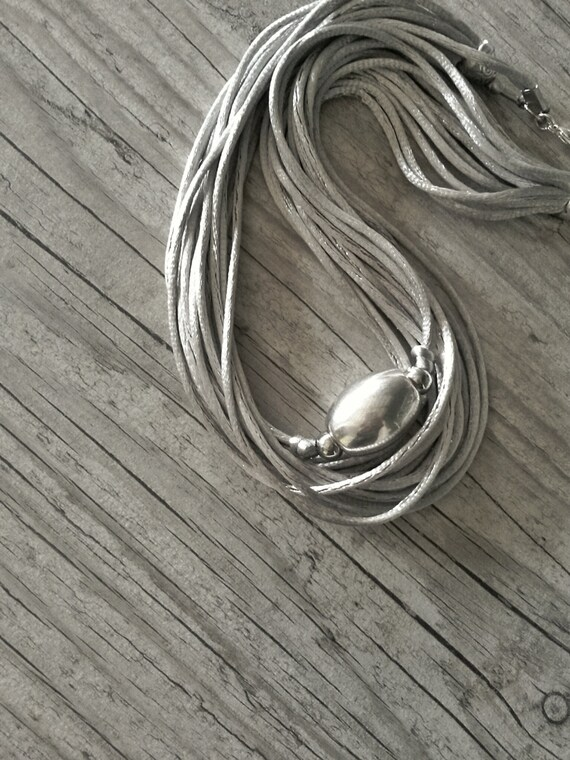 Grey necklace, short satin cord necklace, satin necklace,Grey short necklace,grey elegant necklace,grey satin cord necklace