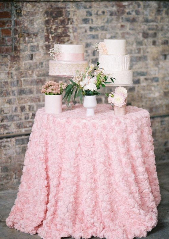 rosette tablecloth in blush pink by candycrushevents on etsy. Black Bedroom Furniture Sets. Home Design Ideas