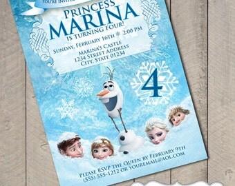 Frozen Disney DIY Printable Invitation by Carta Couture