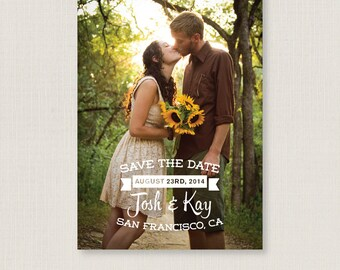Modern save the date. Trendy and clean wedding announcement, available as a postcard. Completely customizable and printable. #08
