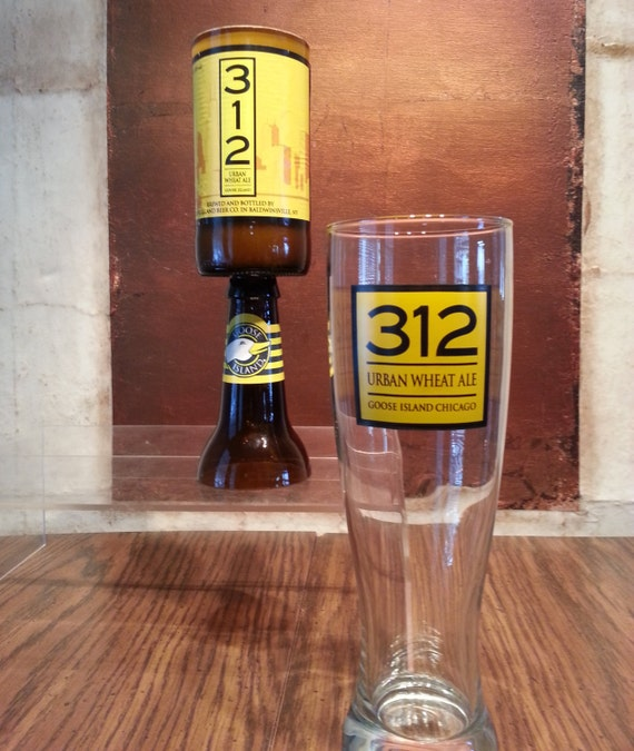 312 Urban Wheat Ale Beer Bottle Candle with Pedestal (You select your scent)