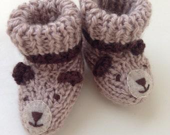 Sleepy Bear Baby Booties - Best Selling Most Popular Baby Gift Item!