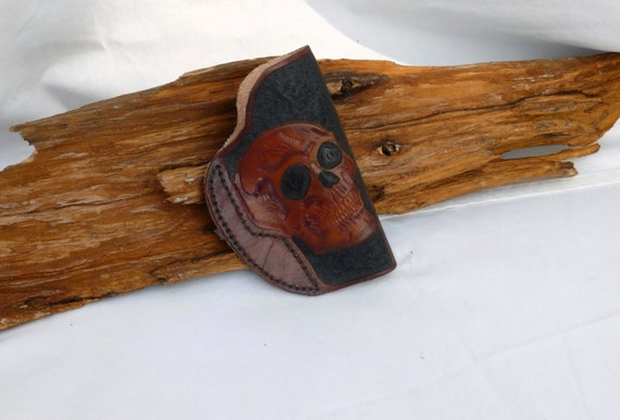 Conceal Carry Holster With Skull Designs, I can do most designs contact me to see if I can do yours
