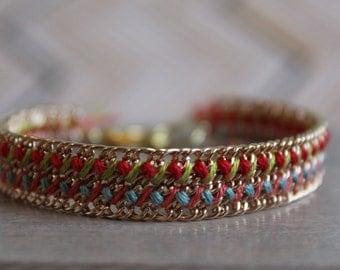 Friendship Bracelet - Woven Gold Chain