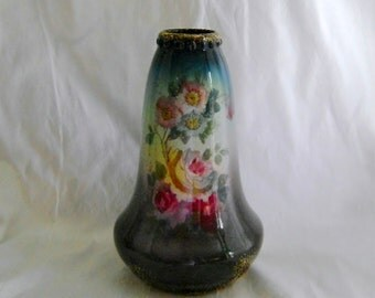Royal Bonn Vase Franz Anton Mehlem Hand Painted Roses Antique