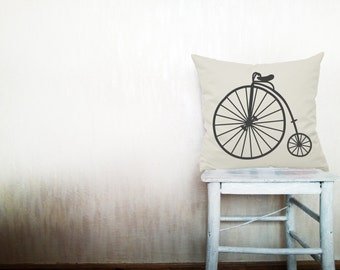 Bicycle throw pillows decorative throw pillows bicycle pillows urban bike pillows Outdoor pillows industrial bedding 12x18 inches pillows