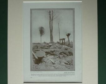1919 Antique First World War Print - WWI Trench Art - British Army Soldiers - War Photograph - Antique Photo - World War One - Sepia Print