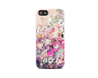 Spring Floral iPhone Case, Floral Cases iPhone 6 Case, Pastel Pink Floral iPhone 5 Case, Vintage iPhone 4 Case Phone Cases Mothers Day Gifts