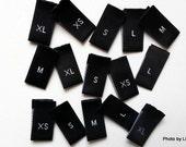 New Style: 100pcs Delicate Assorted Woven Size Label (XS, S, M, L & XL -- 20pcs each - size tag)