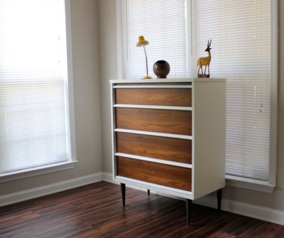 Mid Century Dresser Tall by Bassett Furniture