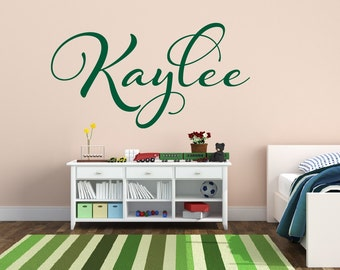 Baby Name Wall Decal - Girls Nursery Wall Decal Name Vinyl Wall Decal - Baby Girls Nursery Decor - Personalized Name Decal
