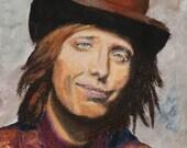 8x10 Art Print of Rocker Tom Petty- from a Pastel Original