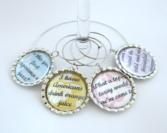 Downton Abbey Wine Glass Charm Servants Quotes