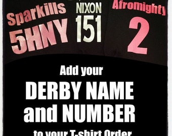 Add Your Derby Name and Number to Your Order