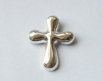925 Sterling Silver Big Cross Abstract Silver Pendant 436