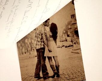 Rustic vellum wedding invitation and RSVP - Photo Invitation - Vellum invitation  - Kraft Brown - Rustic wedding invitation - Rustic wedding