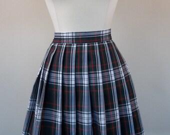 Vintage hand made plaid skirt, large