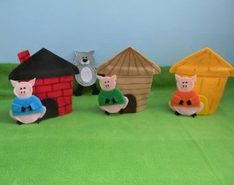 Three Little Pigs Finger Puppet Play Set