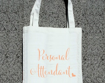 Personal Attendant Assistant Personalized Tote- Wedding Welcome Tote Bag