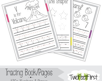 GIRL- Tracing Book/Pages: ABC's, Numbers, & Shapes