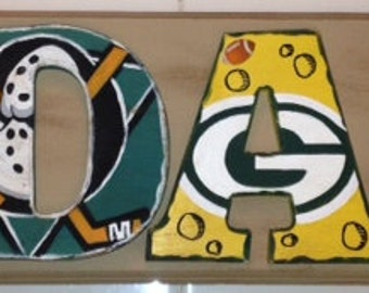 All About Plaque - Adam - Each Letter Represents His Favorite Teams and Things!