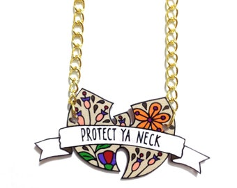 Floral 'PROTECT YA NECK' Wu-Tang Necklace