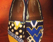 West Virginia University Hand Painted Shoes (Can be custom ordered for your college)