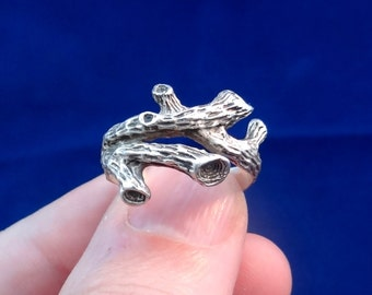 Branch Ring In Sterling Silver, Silver Branch Ring, Olive Branch, Silver Tree branch, Cheap Silver Ring, Handmade Ring, Solid Silver Ring