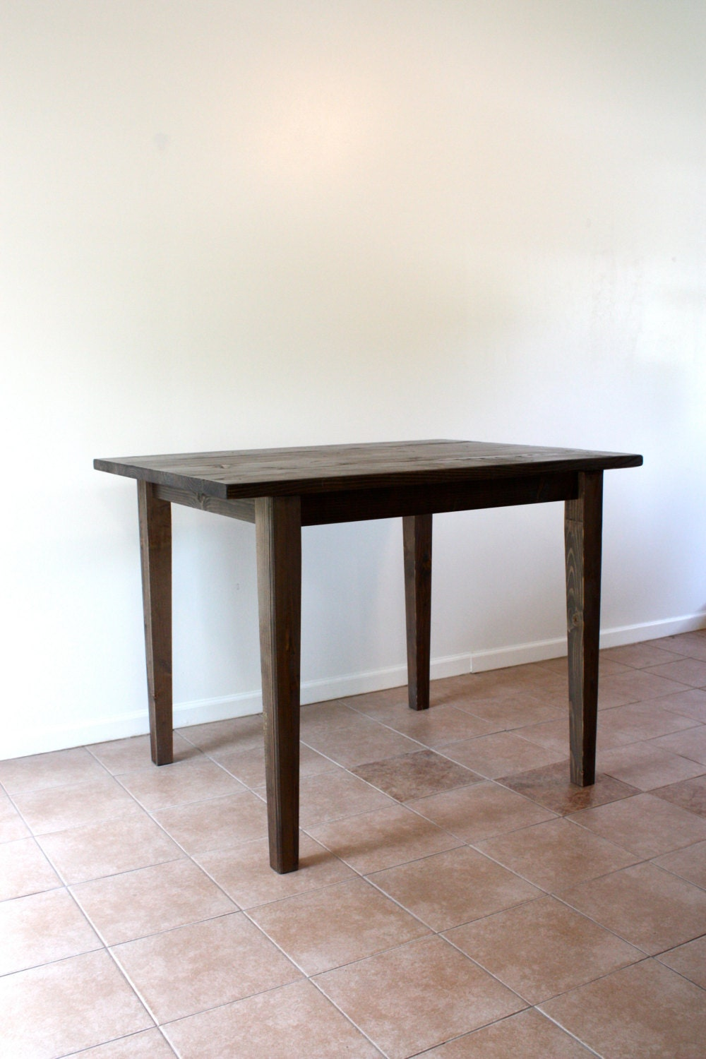 Counter Height Farm Table : Handmade French Kitchen Island // Counter Height Table //