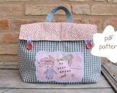 Hair dryer case pdf pattern - hair dryer case - case sewing pattern - bagsewing pdf pattern