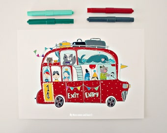 Print- Polka Dot Bus-