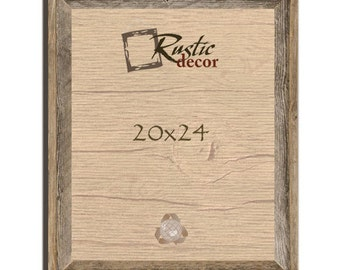 "20x24 2"" wide Rustic Barn Wood Signature Wall Frame"