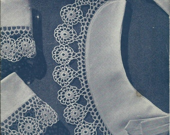 Vintage Clark's J & P Coats Edgings Crochet Pattern Book No 254 Dated 1949