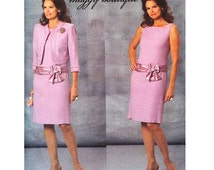 2000s DRESS & JACKET PATTERN Mother of Bride Groom Dress, Jacket Maggy Boutique Size 6 8 10 12 Butterick 4655 UnCUT Womens Sewing Patterns