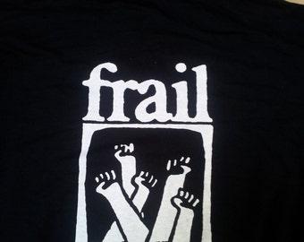 FRAIL hoodie - Straight Edge, sXe, hardcore punk, emo band