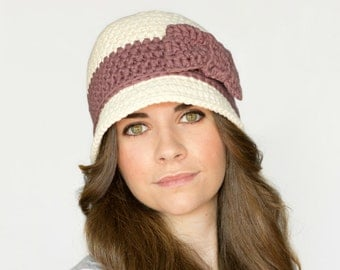CROCHET PATTERN - Downton Abbey Inspired Cloche Hat, 1920's Flapper Hat
