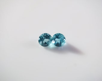 2.02 Ct., Huge, Round Cut, Beautiful Pariba Blue Apatite, High Quality Stones and Ready for Lapidary or Wrapping.