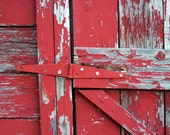 "8x10 Metallic Print - ""Red Shed Door"""
