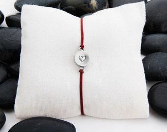 Heart Bracelet, Heart Charm, Heart Bracelet, Heart Jewelry, Love you, Love charm, Love Bracelet, Valentine Jewelry, JIB246CSS