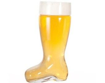Beer Boot 1 Liter- Custom Engraved Glass Beer Boot