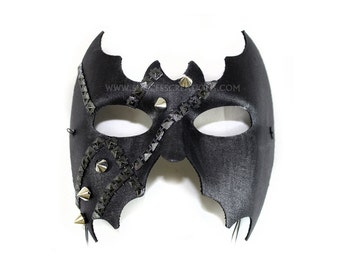 Lair Studded Hand Painted Men's Masquerade Mask - A-2221-E