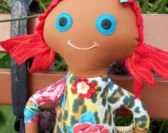 Hand made rag doll Kitty Kat