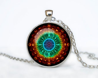 FRACTAL Pendant  Fractal Necklace  Jewelry Necklace for him  Art Gifts for Her Men pendant