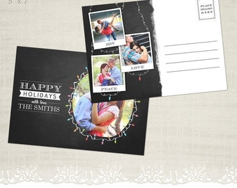 Christmas Card Template for Photographers - 5 x 7 Postcard - P01