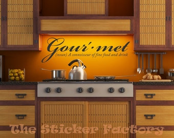 Gourmet vinyl wall decal quote
