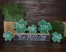 Personalized St. Patrick's Day Home Decor, Personalized Irish Decoration, St. Patrick's Day Decoration, Primitive St. Patrick's Day Blocks