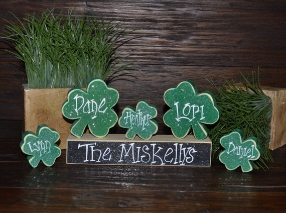 Personalized st patrick 39 s day home decor personalized for St patricks day decorations for the home