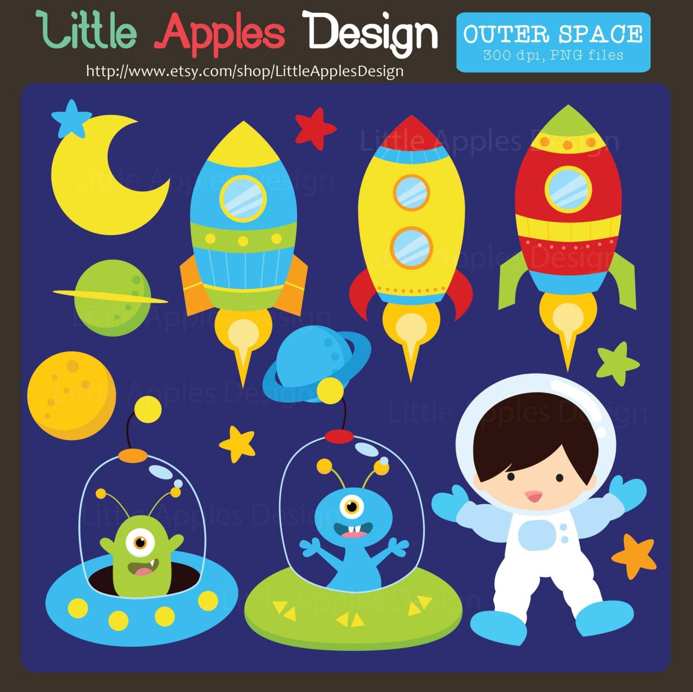 Outer Space ClipArt / Outer Space Clip Art / Space Clip Art /