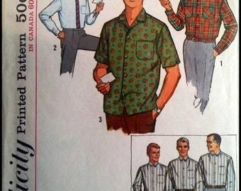 "Simplicity 5029  Men's Proportioned Shirt with sleeve length from 32""-36"""